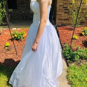 Mary's Bridal Dresses - Beaded white prom dress